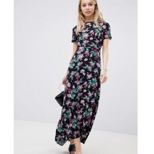 NWT Asos open back maxi floral dress Sz 4 tall